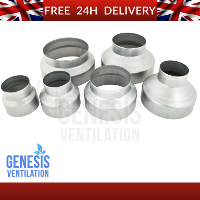 """Round Ducting Pipe Extractor Fan Ventilation Tube 100mm 4/"""" 125mm 5/"""" 150mm 6 inch"""