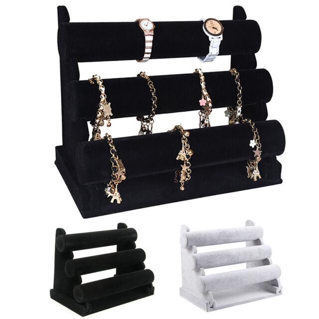 Mannequin Hand Jewelry Bracelet Bangle Ring Display Stand Rack Black Velvet
