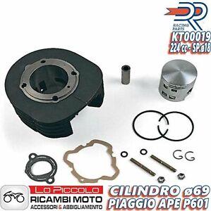 Gruppo Termico Cilindro + Pistone DR Maggiorato 225cc per Piaggio Ape CAR P602