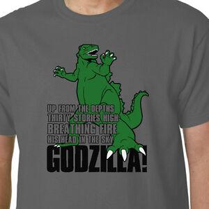 61f09b6f Image is loading Godzilla-TV-cartoon-t-shirt-HANNA-BARBERA-GODZOOKIE-