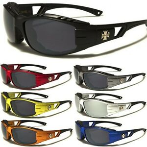 MOTORCYCLE BIKER Day RIDING DRIVING SPORT PADDED CHOPPERS SUN GLASSES GOGGLES