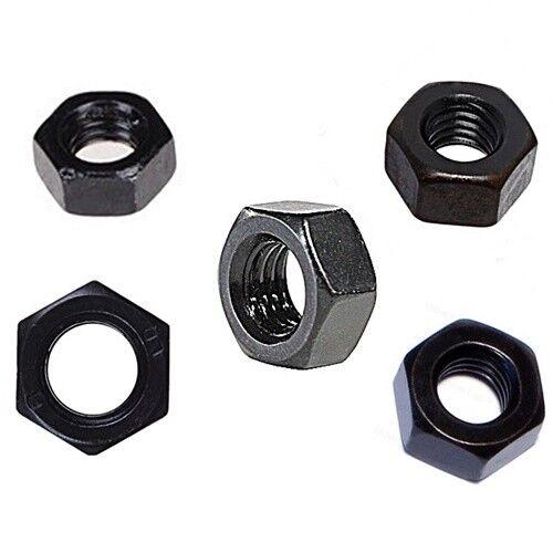 Hexagonal écrous DIN 934 m6 Acier inoxydable a2 Écrous Noir 10 pcs