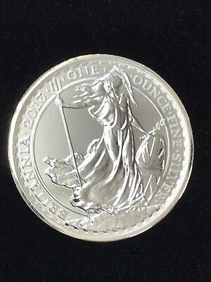 2013 1 oz Snake Privy British Silver Britannia Coin BU