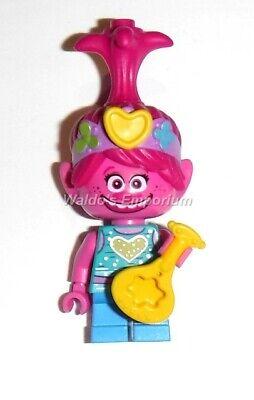 Lego Trolls World Tour MiniFigure New POPPY w//Yellow Ukulele from set 41253