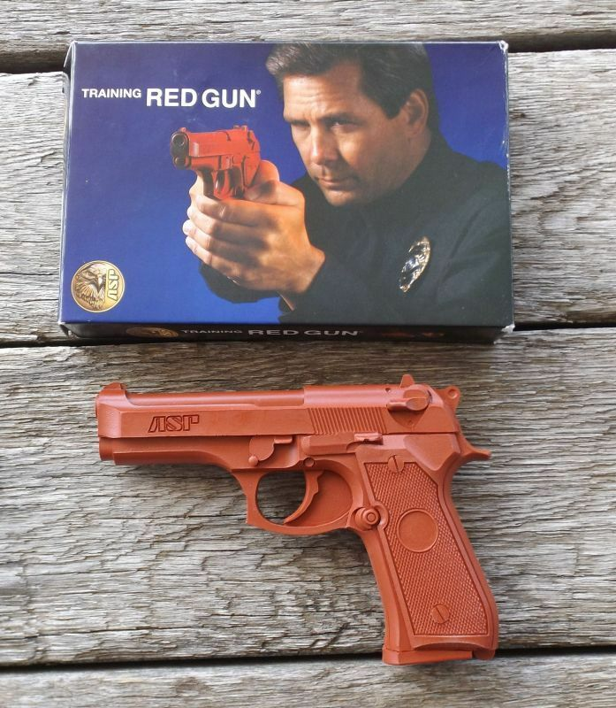 ASP Training Gun Red Gun Beretta 9MM .40 Compact  bluee Gun 7315