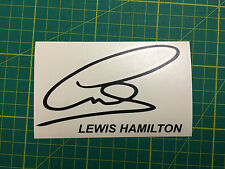 LEWIS HAMILTON SIGNATURE DECAL STICKER F1 #44 WORLD CHAMPION