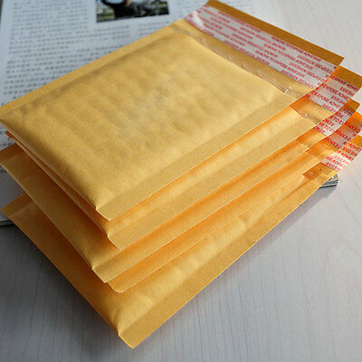 10X 110*130+40mm Indeed Kraft Bubble Envelopes Mailers Shipping Yellow Bag HFCA