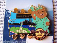 2015 HARD ROCK CAFE NEW YORK NATIONAL PARK BEAR SERIES/STATUE OF LIBERTY PIN
