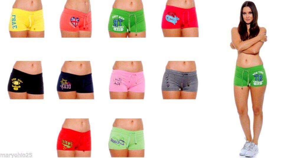 Lot Womens Boy Shorts Athletic Pants Cotton Stretch Yoga Workout Gym S M L XL