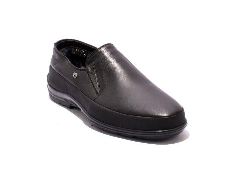 buon prezzo Valerio Neri 46309 nero Leather Shearling Fur Fur Fur scarpe avvio 40   US 7  grande sconto