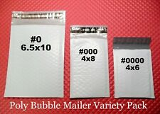 28 Poly Bubble Envelope Three Size Variety Pack Small Padded Mailers