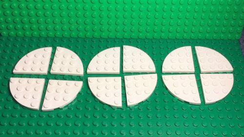 New White 4x4 Round Corner Plate Lego X12 Pc Winter Snow Base Plates Part Lot
