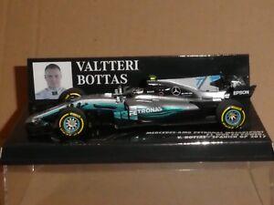 Minichamps 1:43 Valtteri Bottas Mercedes W08 # 77 Gp Espagnol F1 2017 Bnib 4012138147119