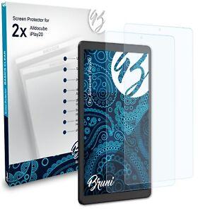 Bruni 2x Folie für Alldocube iPlay20 Schutzfolie Displayschutzfolie