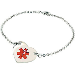 womens alert bracelet child womens hers steel alert id 6242