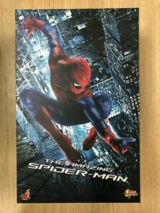 Hot-Toys-MMS-179-The-Amazing-Spiderman-Spider-Man-Andrew-Garfield-Figure-USED