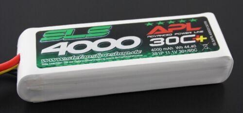 3S 60C Traxxas Modelle 30C SLS SLSAP40003130TR APL LiPo Akku 4000mAh 11,1V