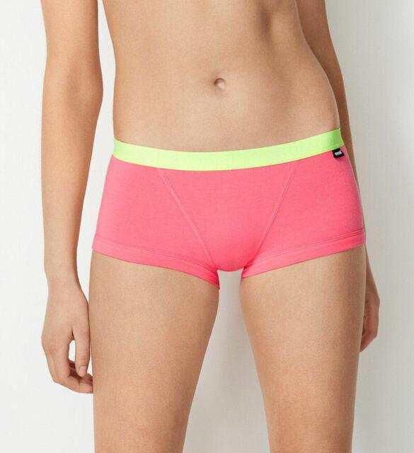 Bonds Ladies WZVYXW QLY Coral Glo Printed Hipster Boyfit Brief Size 10 New