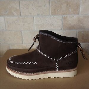 Details about UGG CAMPFIRE TRAIL STOUT BROWN PULL ON NUBUCK MOCCASSINS ANKLE BOOTS SIZE 8 MENS