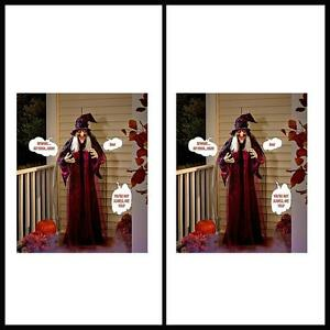 image is loading new life size hanging animated talking witch halloween
