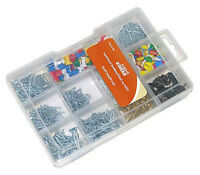 Upholstery Nail Tacks Brad Kit 1000 Piece Assorted Set Escutcheon & Wire Nails +