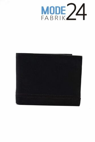 Portefeuille messieurs portefeuille portefeuille portefeuille en cuir véritable Boeuf Noir Gris