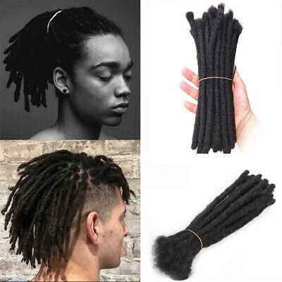 10 x dark Human Hair Dreadlock extensions14 inch long dreads locs medium thick