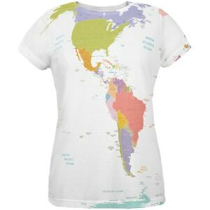 World traveler global map all over womens t shirt ebay image is loading world traveler global map all over womens t gumiabroncs Image collections