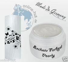 5 ml  UV Exclusiv Farbgel Pearly Permit Weiss Gel Nr.652