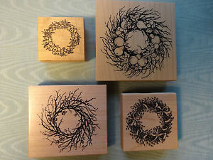 PSX Rubber Stamps~Your Choice~Various Stick Floral Wreaths~Excellent pre-owned!