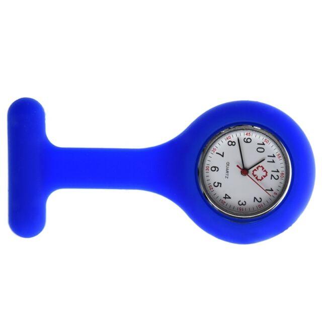 Krankenschwestern Brosche Silikonkautschuk Armbanduhr Uhr Taschenuhr fuer Kasack