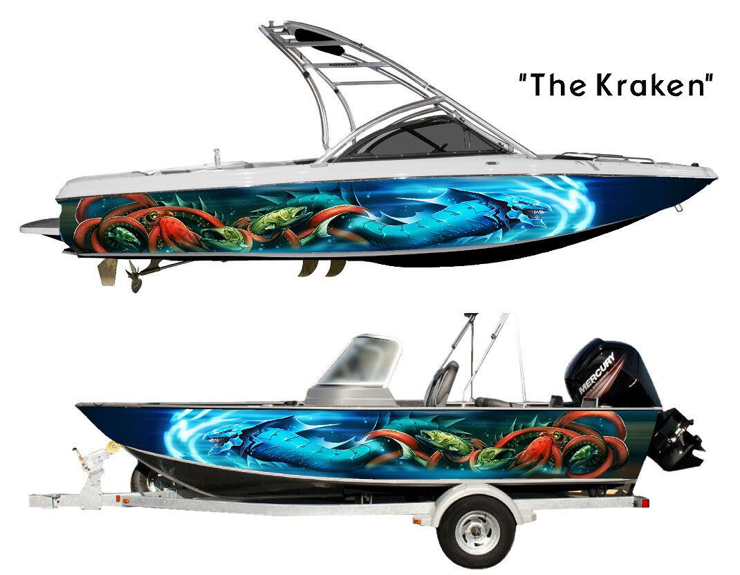 Le Kraken Personnalisé Bateau Wrap Design