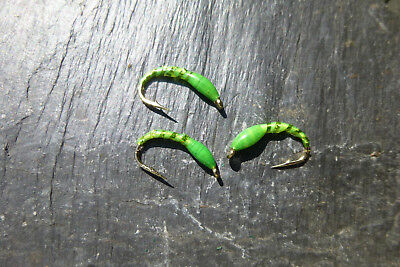 4 St TROUT EPOXY BUZZER green # 10 Regenbogen-Bach-Forelle Saibling Trout Char