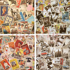Lot-of-32-Mixed-Classic-Vintage-Retro-Advertising-Movie-Star-Poster-Postcards