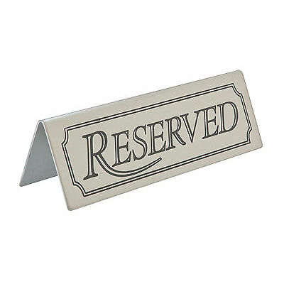 5x Reserved Table Sign Stainless Steel Bar Restaurant Tableware Tabletop Hotel
