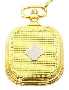 Taschenuhr-Weiss-Silber-Gold-Analog-Quarz-Herrenuhr-D-50742413309350