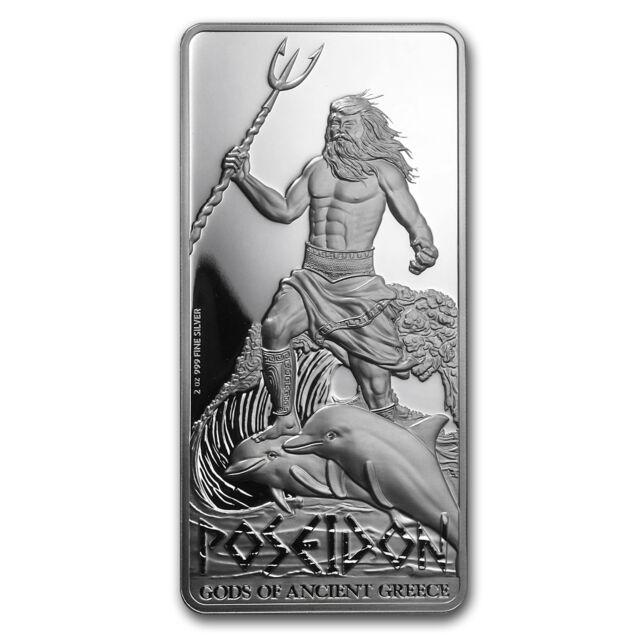 2015 Niue 2 oz Silver $5 Gods of Ancient Greece Proof (Poseidon) - SKU #86222