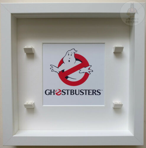 LEGO GHOSTBUSTERS Minifigure Display Frame Stand Case Gift Idea Present