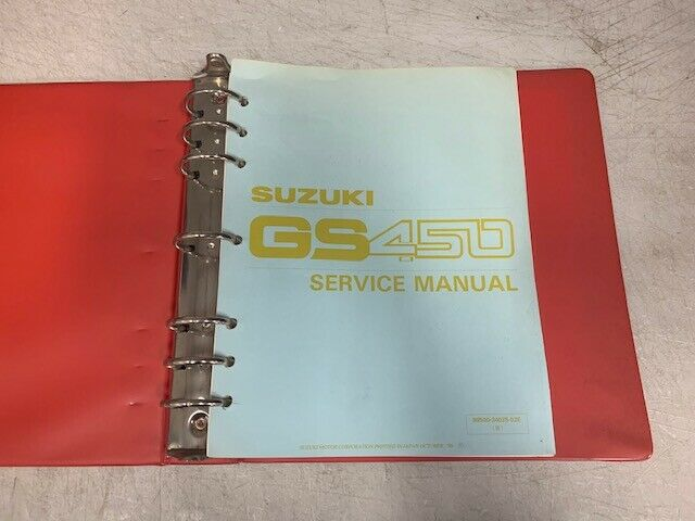 1990 1991 Suzuki Gs450 Gs 450 Motorcycle Oem Factory Shop
