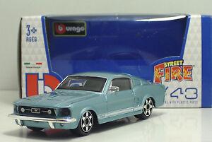 Bburago-30010-FORD-Mustang-GT-034-Celeste-034-METAL-Scala-1-43