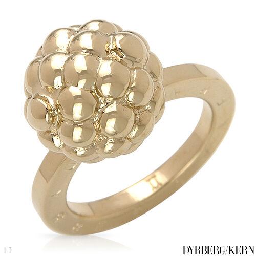 DYRBERG KERN of DENMARK    Cavia Collection Shiny gold Finish StSl Plating Ring