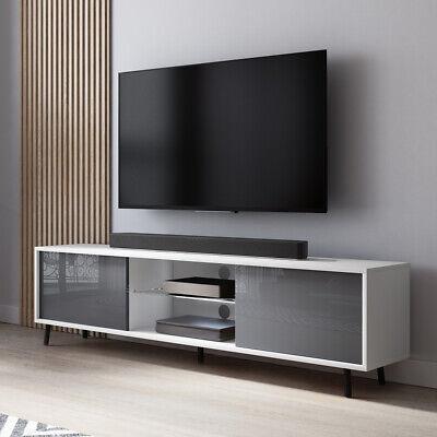 Selsey TV-Lowboard Eiche matt//Grau Hochglanz 100 cm