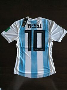 3a887c77c Image is loading Lionel-Messi-Adidas-Argentina-Jersey-World-Cup-Patches-