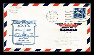 DR-JIM-STAMPS-US-CHICAGO-AM-9-FIRST-FLIGHT-AIR-MAIL-COVER-HOUSTON-BACKSTAMP