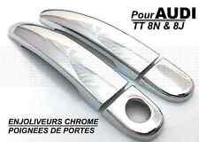 AUDI TT 8J 06-14 CACHES CHROME POIGNEES PORTES PORTIERE QUATTRO SLINE S TTS TTRS