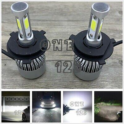 H4 9003 Cree LED Headlights Bulbs 55W 8000LM Kit High Low Beam 6000K Super White