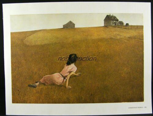 Olson/'s Andrew Wyeth Gravure Print CHRISTINA/'S WORLD /& WEATHER SIDE