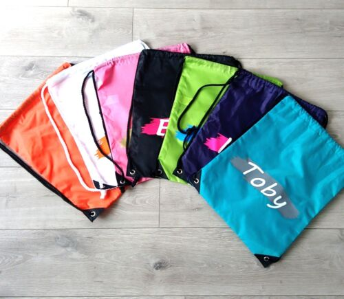 Personalised PE Bag School Bag Gym Kit Sports Named Sports Kit Swimming Bag