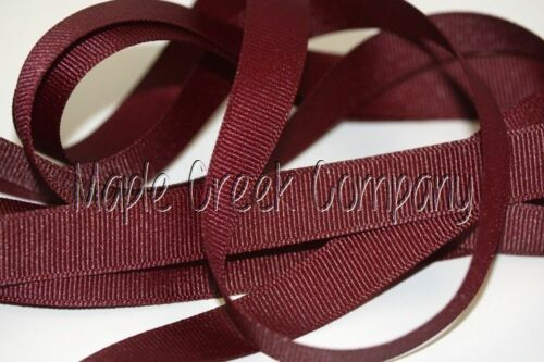 """3yd of Burgundy Wine 3//8/"""" Grosgrain Ribbon 3//8/"""" x 3 yards neatly wound"""