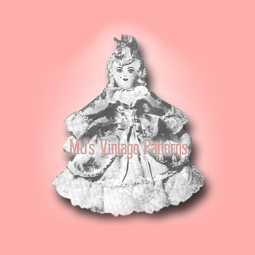 Vintage Doll Pattern ~ Old Fashioned 1860s